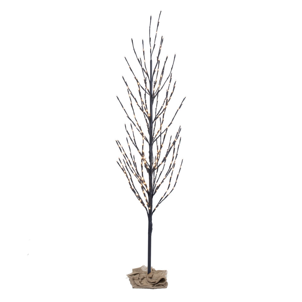 Vickerman 2' Brown Artificial Christmas Tree - 120 Warm White LED lights