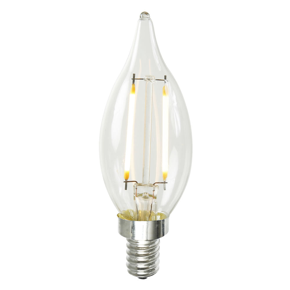 1.6w CA10 LED Dimmable Warm White 2200K E12 base Bulb