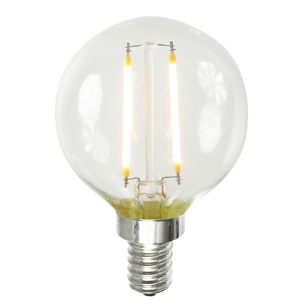 1.6W G16 (G50MM) LED Dimmable Warm White 2200K E12 base Bulb
