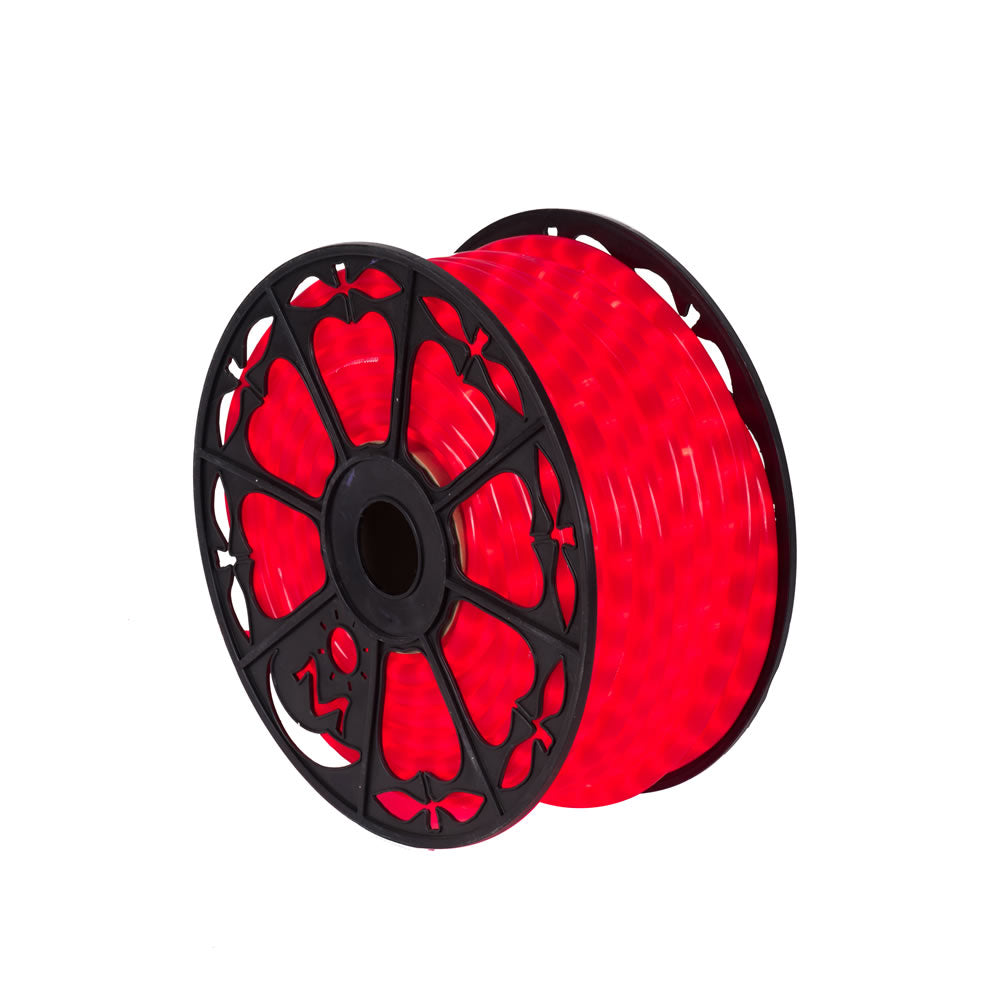 Vickerman 150 ft. x.5 in. Fluorescent Red LED Rope Light