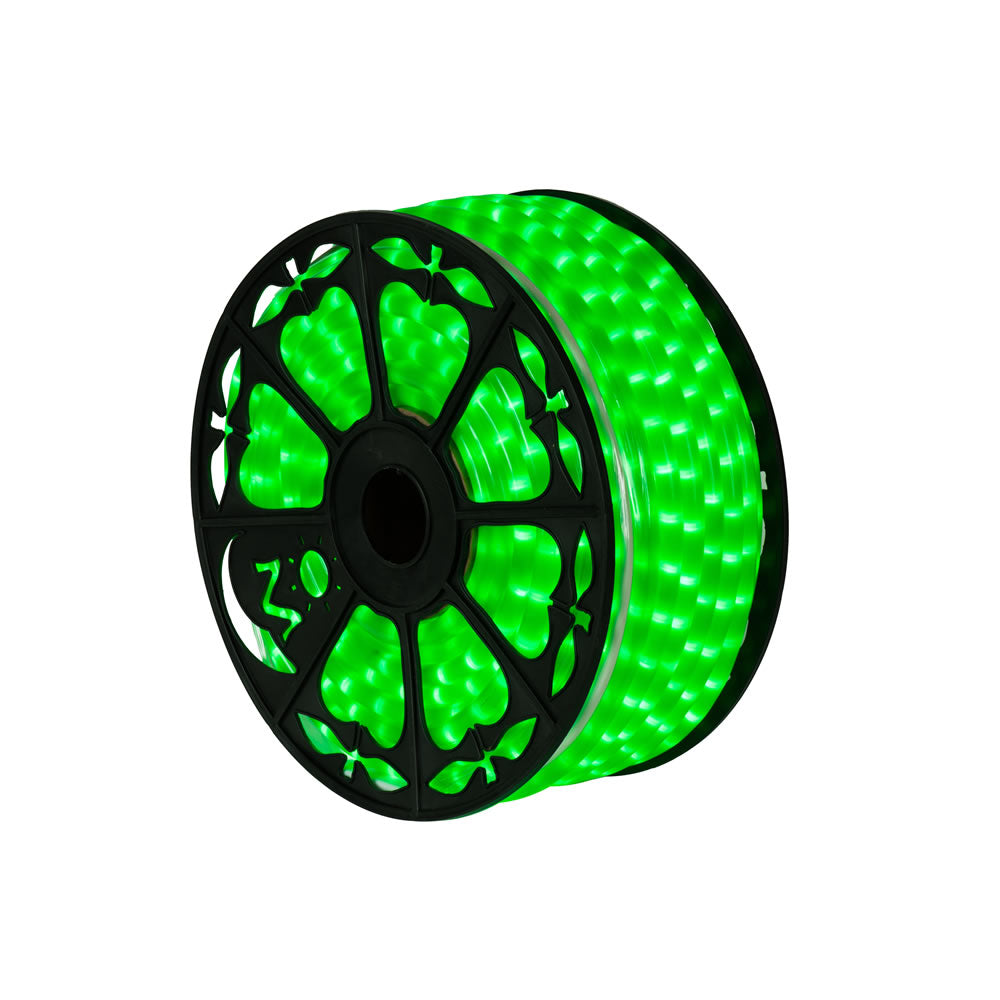 Vickerman 150 ft. x .5 in. Fluorescent Green LED Rope Lt
