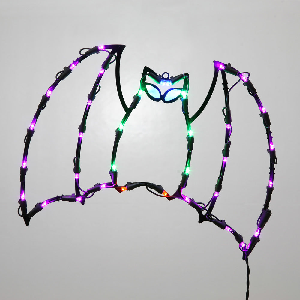 35 Lights 16x13in. Bat Window Led Decor Halloween Set