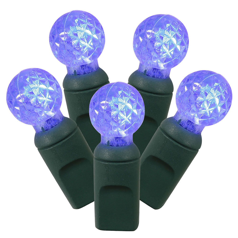 100Lt Blue LED / Green Wire G12 EC 4 in x 34 ft.