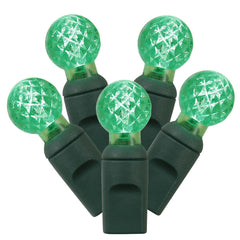50 Green LED Lights / Green Wire G12 Berry 16Ft. Christmas Set