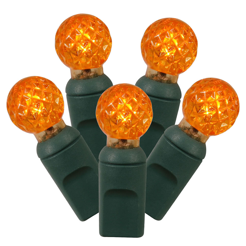 100Lt Orange LED / Green Wire G12 EC 4 in x 34 ft.
