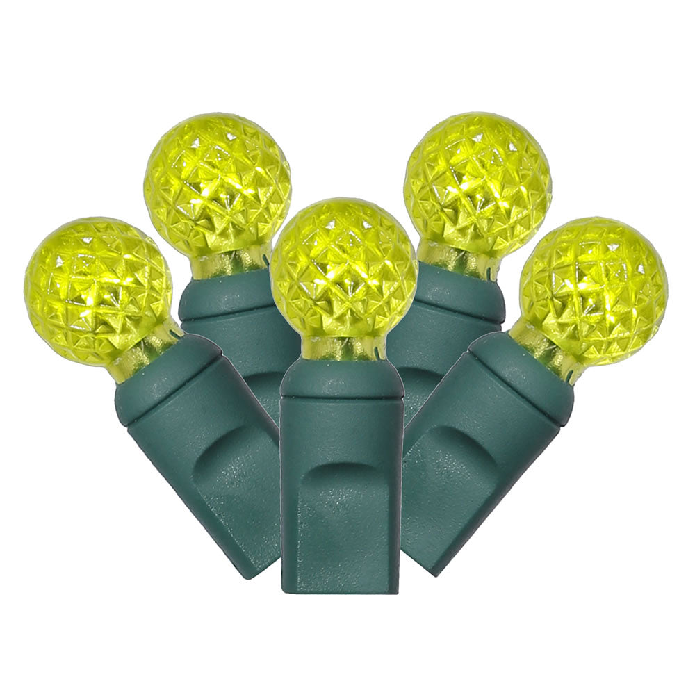 Vickerman 100Lt LED Lime/Green Wire G12 EC 4 in.x34 ft.L