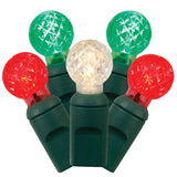 4PK - 25Ft. LED String 50Lt. Red, Warm White, Green G12 Berry Lights Green Wire