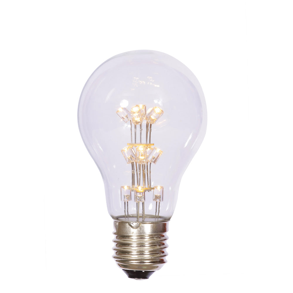 25PK - A19 LED Warm White Transp Bulb E26 Nk Base