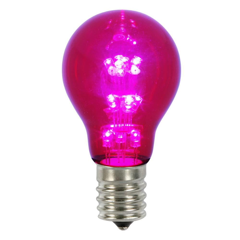 A19 LED Purple Transp Bulb E26 Nk Base