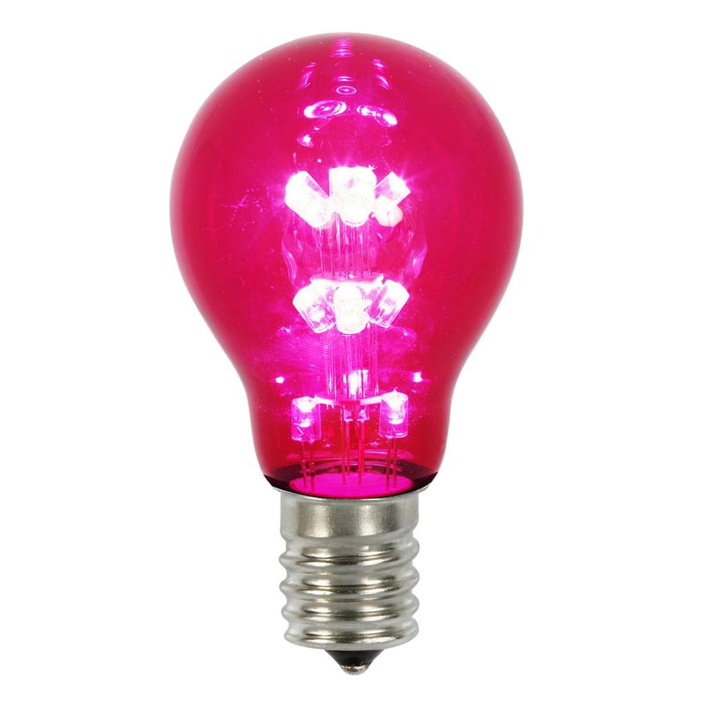 A19 LED Pink Transparent Light Bulb E26 Nk Base