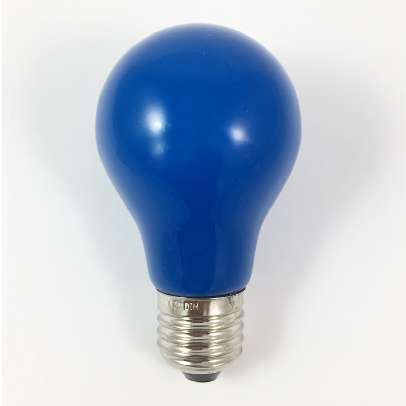 25PK - Dimmable 1.2w A19 LED Blue Ceramic Bulb E26 Nickel Base