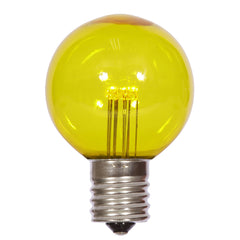 25PK - Vickerman G50 Yellow Transparent Glass LED Replacement Bulb