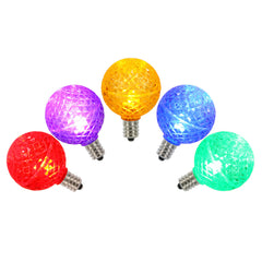 5PK -Vickerman Multi-Colored Faceted G40 LED Replacement Bulb