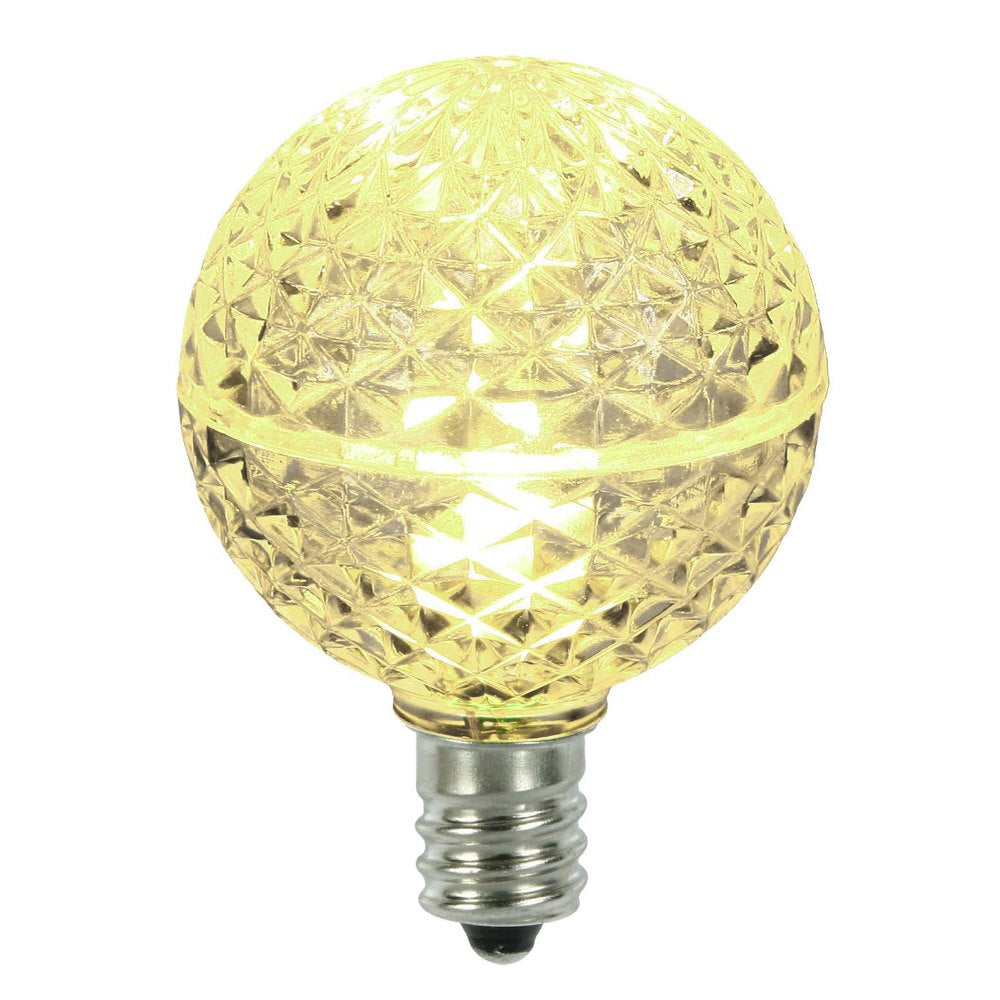 5PK -Vickerman Warm White Faceted G40 LED Replacement Bulb