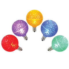 5PK -Vickerman Multi-Colored Faceted G50 LED Replacement Bulb