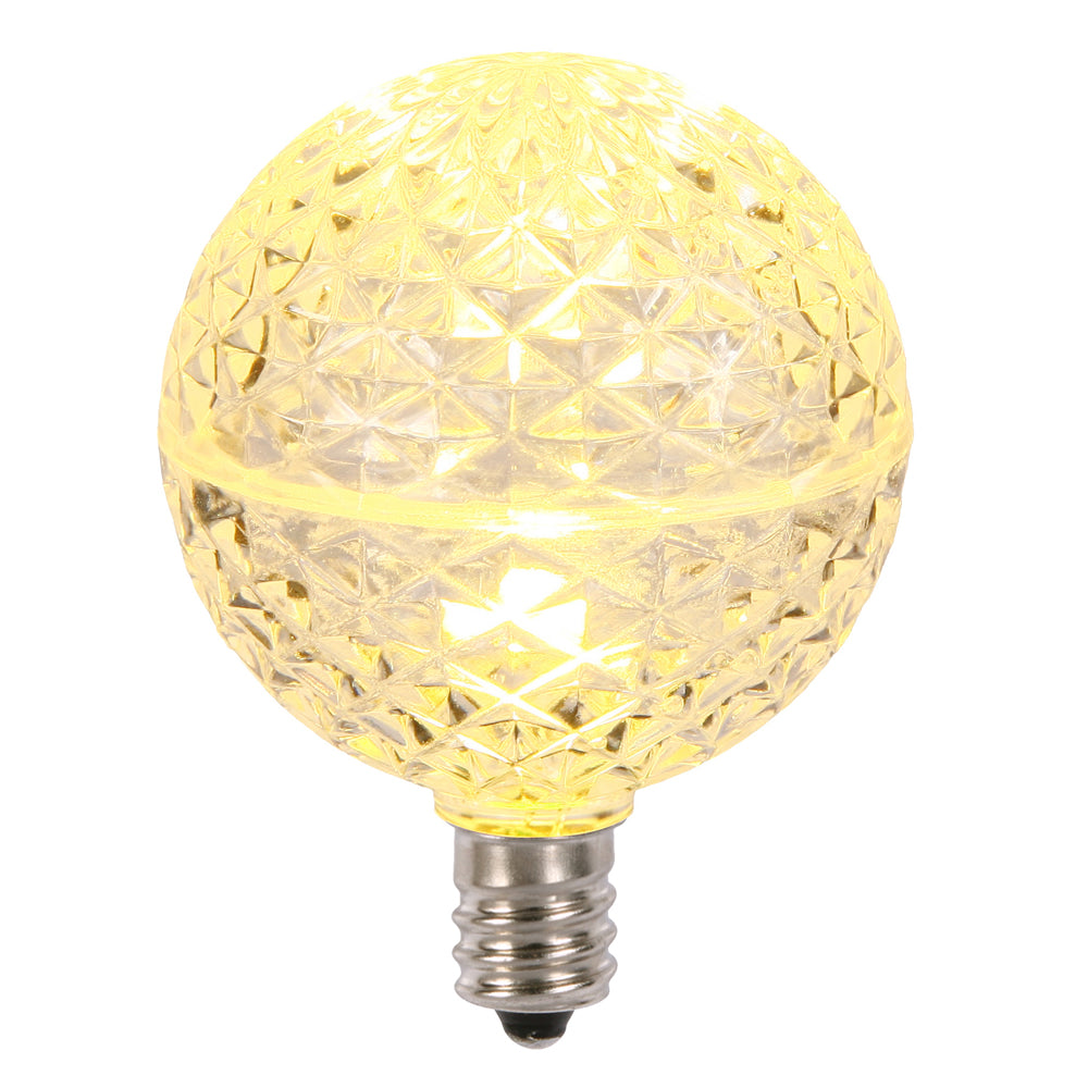 5PK -Vickerman Warm White Faceted G50 LED Replacement Bulb