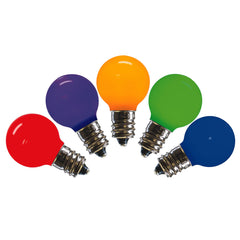 25PK - Vickerman Multi-Colored Ceramic G30 LED Replacement Bulb