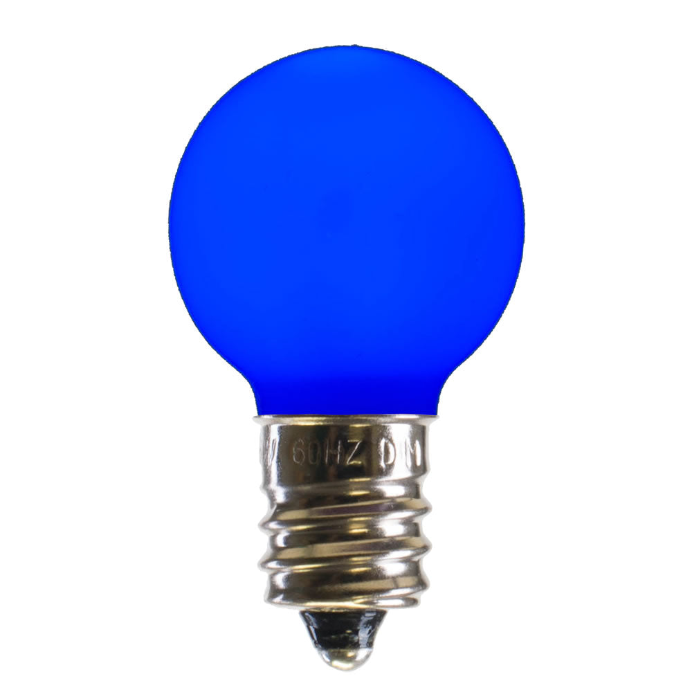 25PK - Vickerman Blue Ceramic G30 LED Replacement Bulb