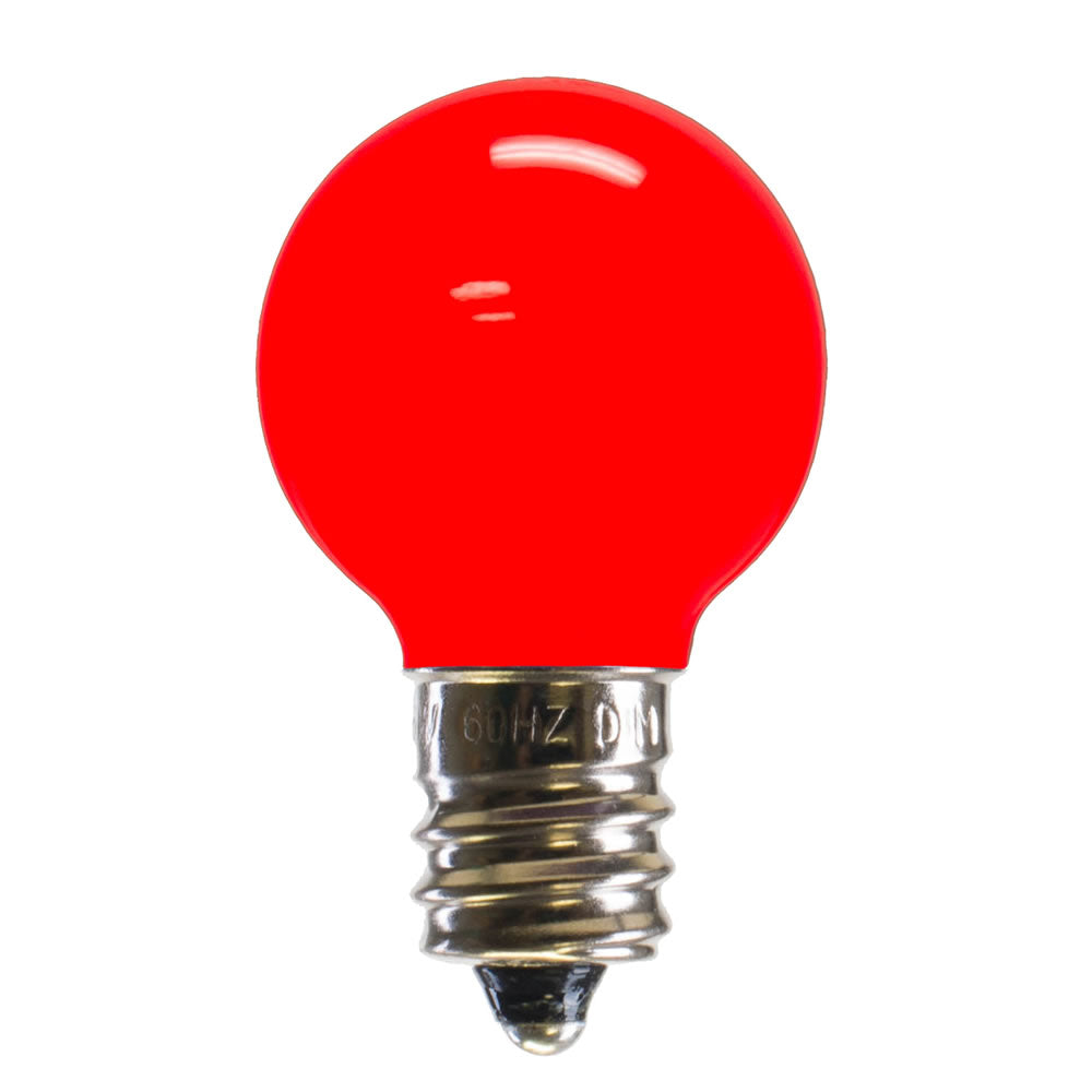 25PK - Vickerman Red Ceramic G30 LED Replacement Bulb