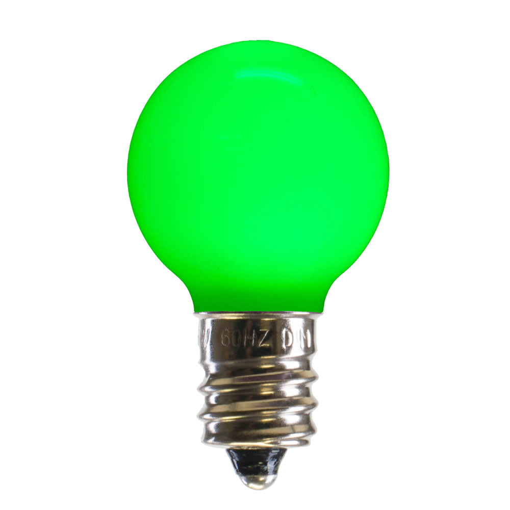 25PK - Vickerman Green Ceramic G30 LED Replacement Bulb