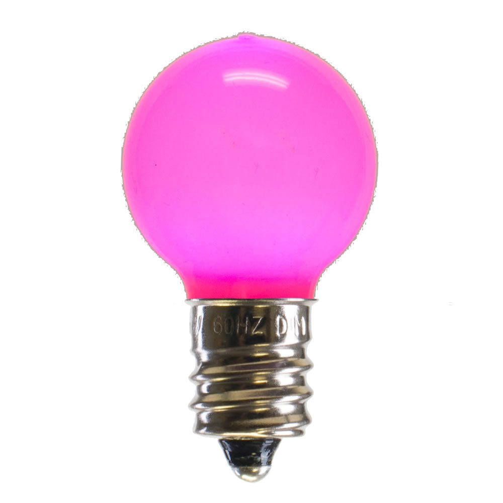 25PK - Vickerman Pink Ceramic G30 LED Replacement Bulb