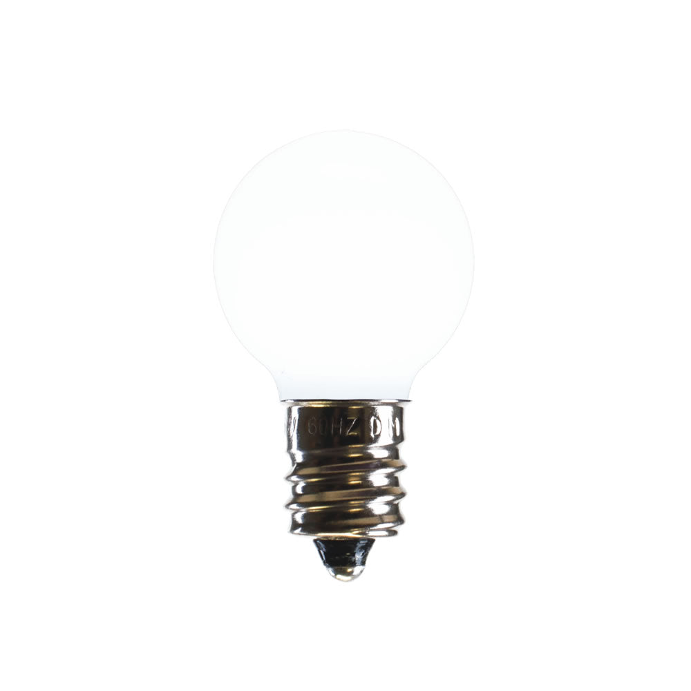 25PK - Vickerman Pure White Ceramic G30 LED Replacement Bulb