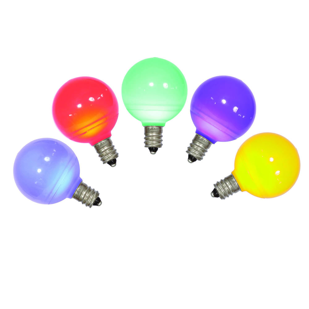 25PK - Vickerman Multi-Colored Ceramic G40 LED Replacement Bulb