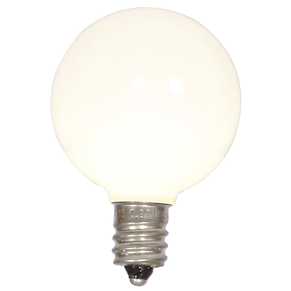 25PK - Vickerman Warm White Ceramic G40 LED Replacement Bulb
