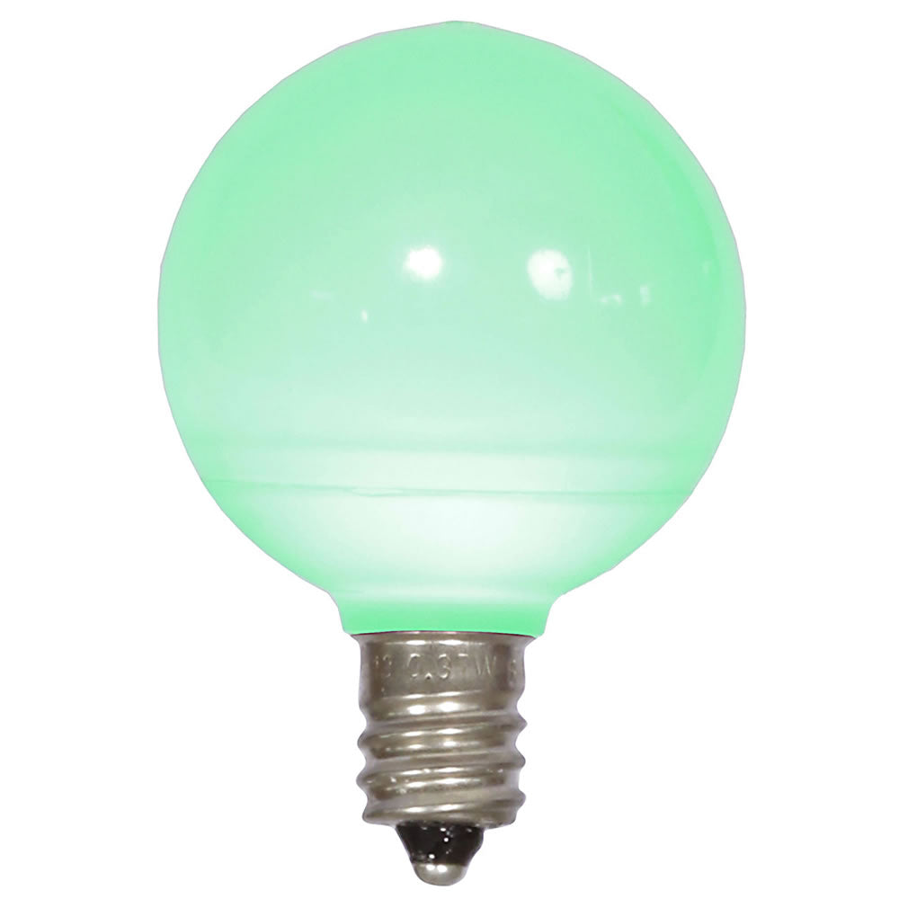 25PK - Vickerman Green Ceramic G40 LED Replacement Bulb