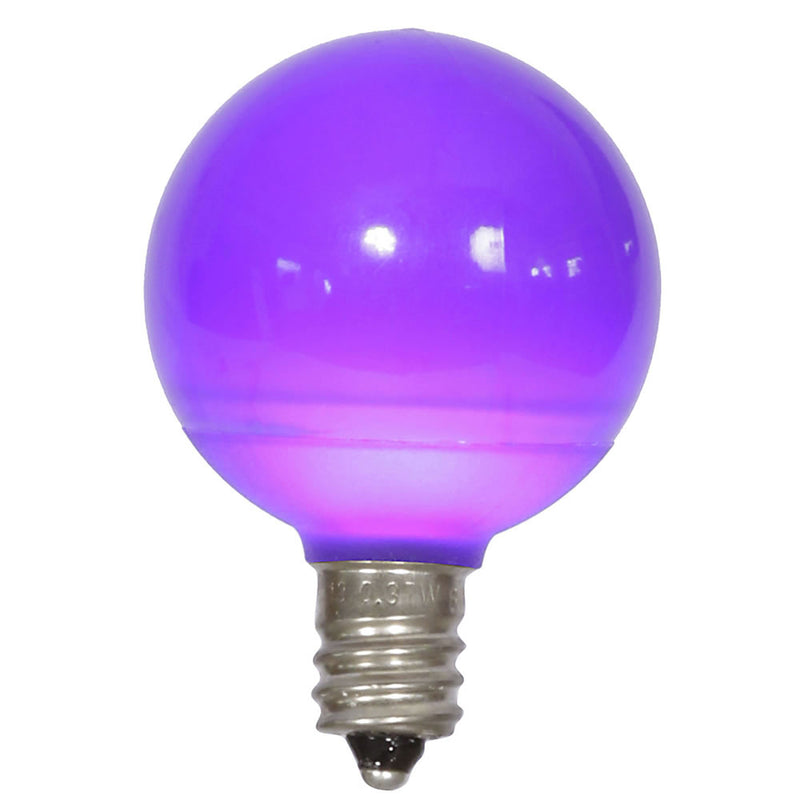 25PK - Vickerman Purple Ceramic G40 LED Replacement Bulb