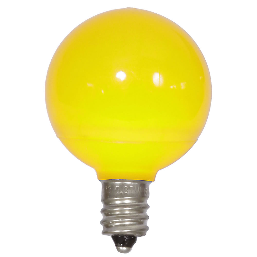 25PK - Vickerman Yellow Ceramic G40 LED Replacement Bulb