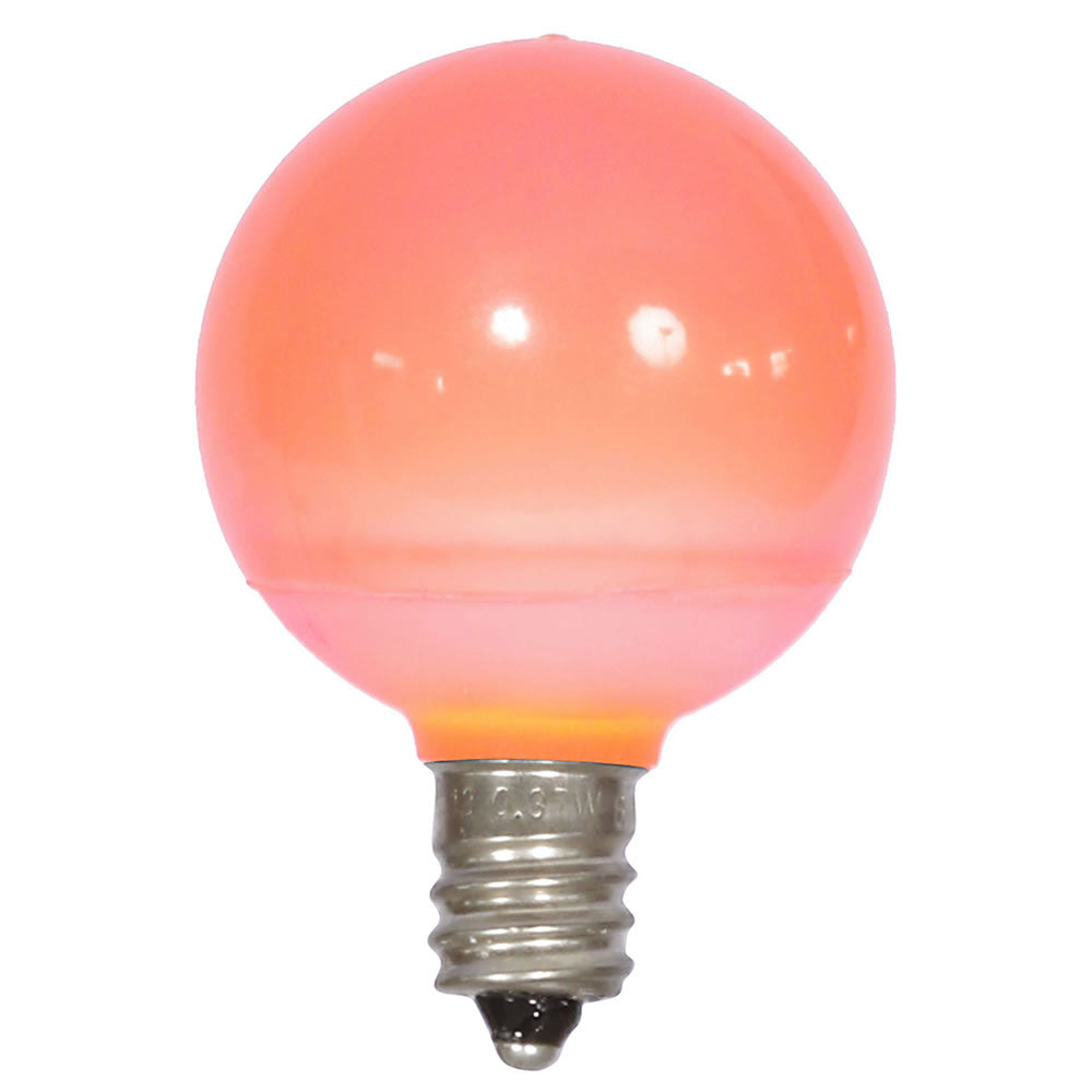 25PK - Vickerman Pink Ceramic G40 LED Replacement Bulb