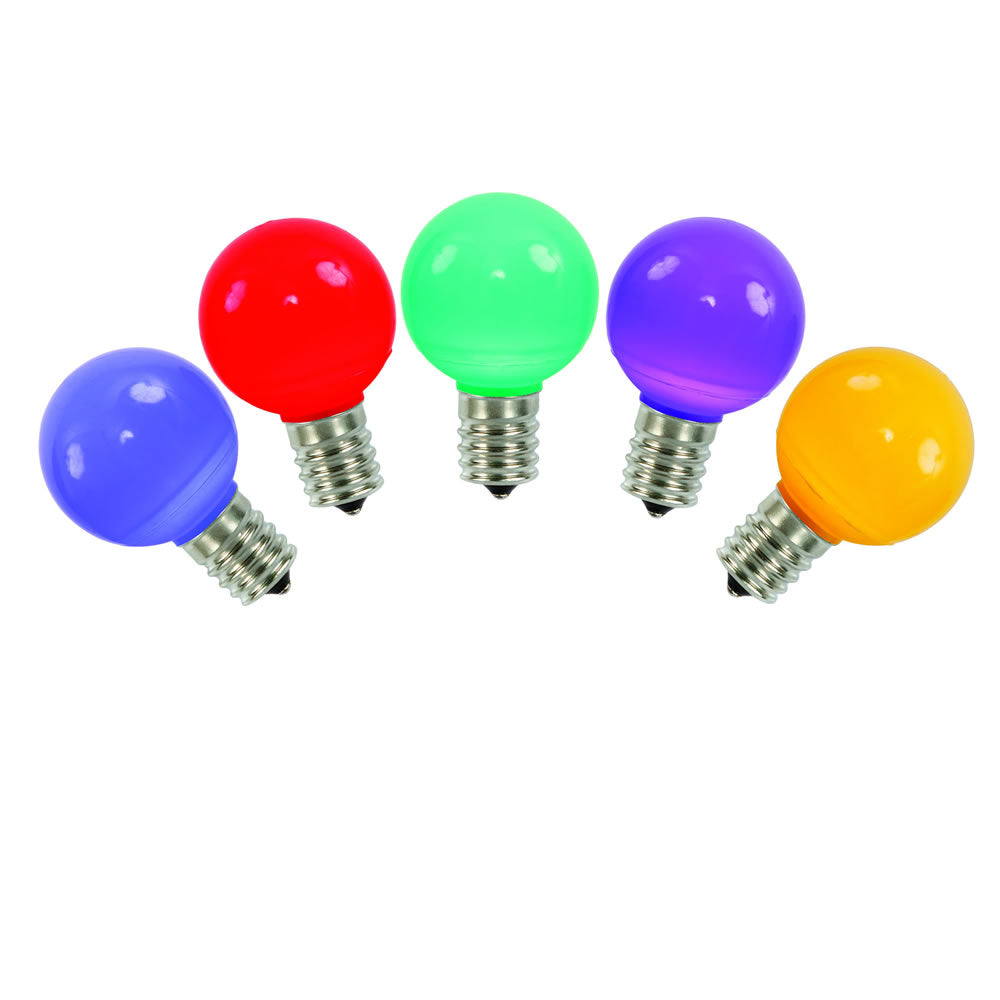 25pk vickerman multi colored ceramic g50 led replacement bulb bulbamerica. Black Bedroom Furniture Sets. Home Design Ideas