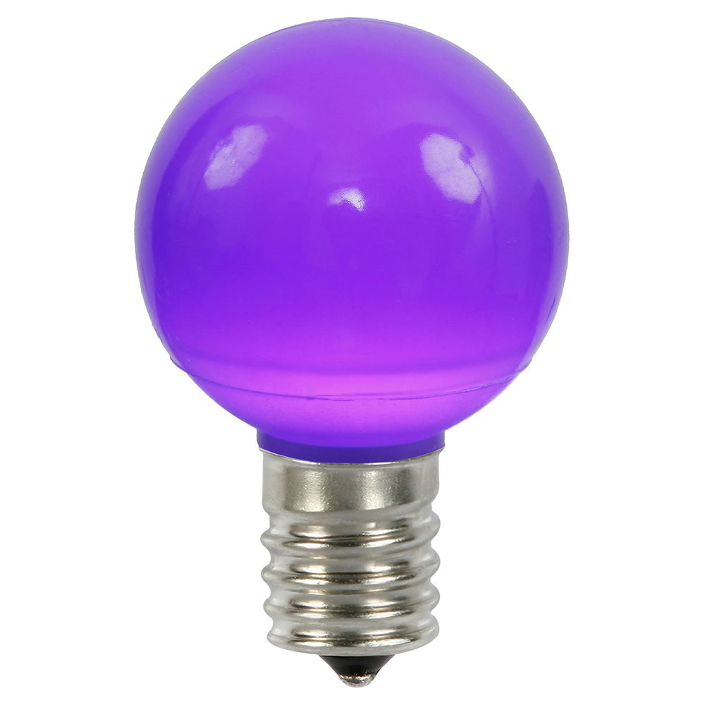25PK - Vickerman Purple Ceramic G50 LED Replacement Bulb