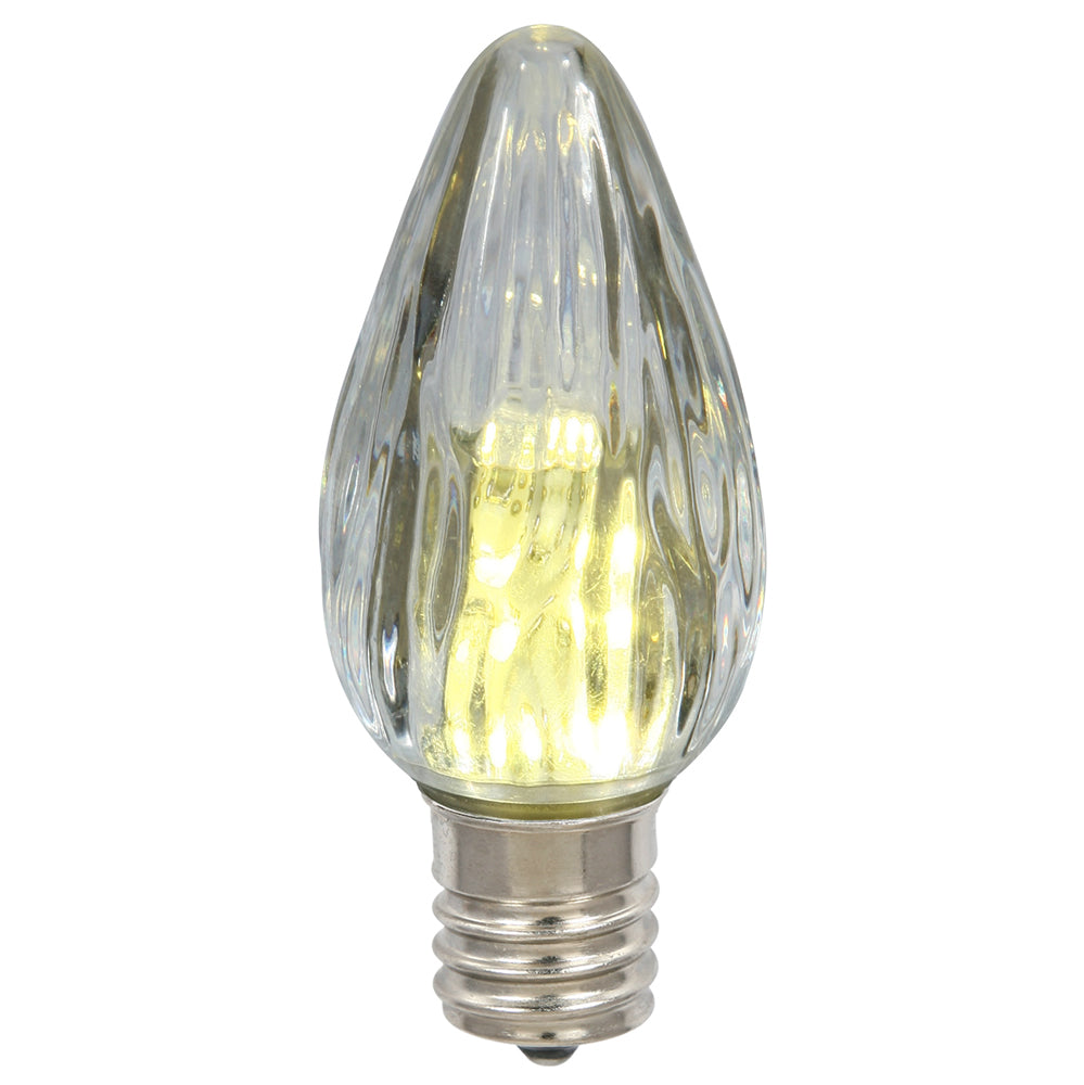 25 Pack - 0.96W F15 Warm White Plastic Led Flame Replacement Christmas Light Bulb