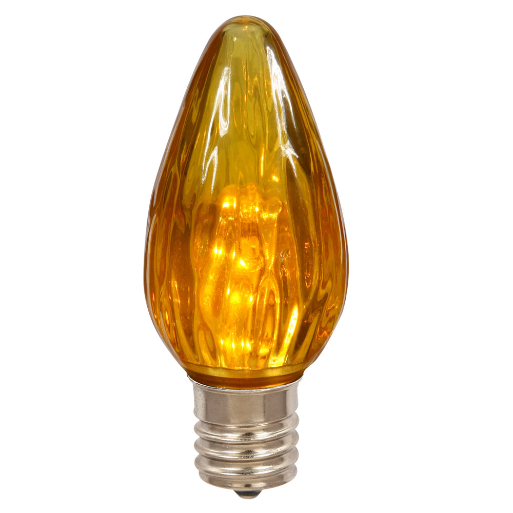 25 Pack   0.96W F15 Amber Led Flame Replacement Christmas Light Bulb