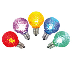 25PK - Vickerman Multi-Colored Faceted G30 LED Replacement Bulb