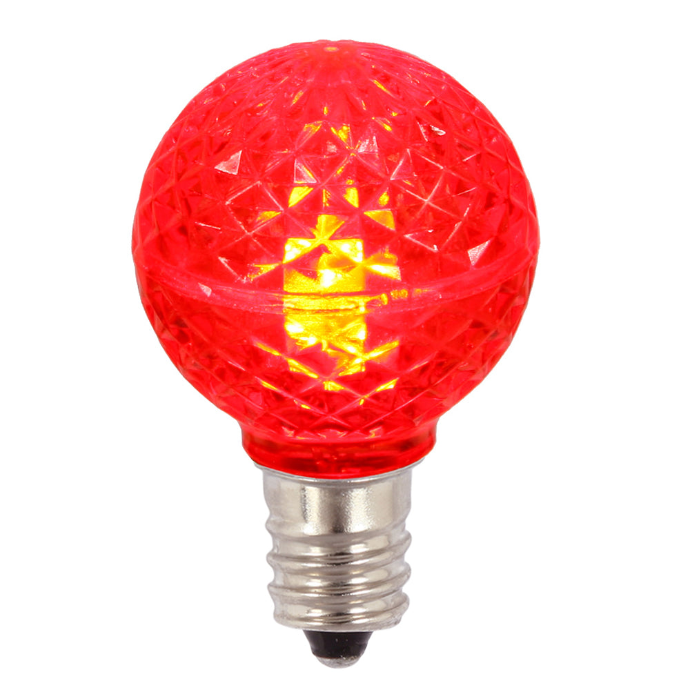 25PK - Vickerman Red Faceted G30 LED Replacement Bulb