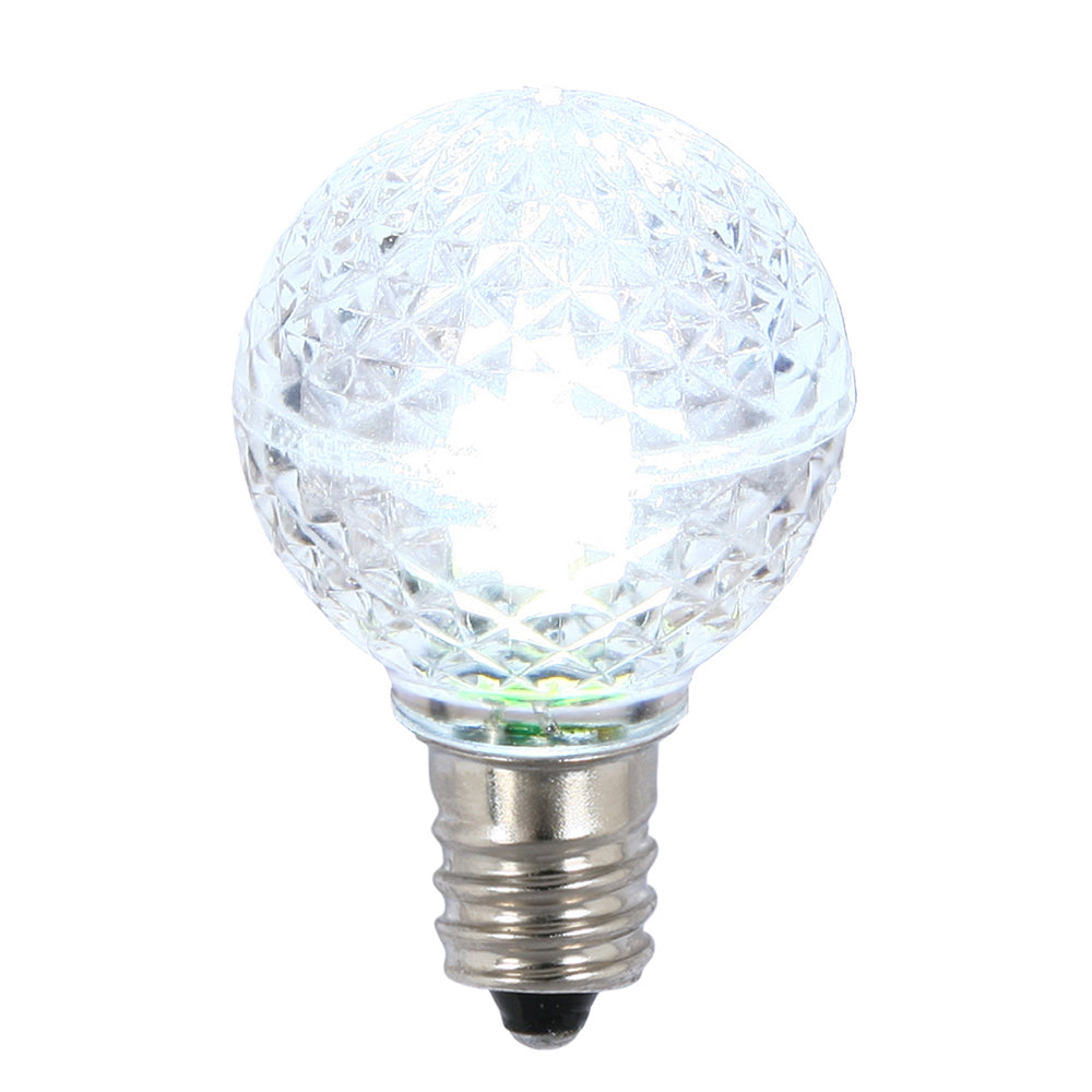 25PK - Vickerman Cool White Faceted G30 LED Replacement Bulb