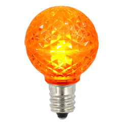 Vickerman G30 Faceted LED Orange Bulb E12 .38W