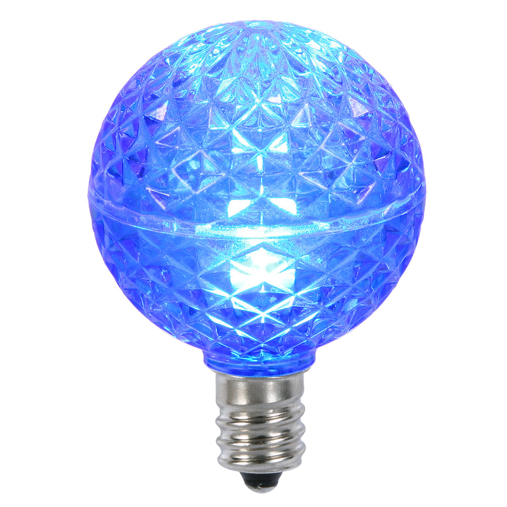25PK - Vickerman Blue Faceted G40 LED Replacement Bulb