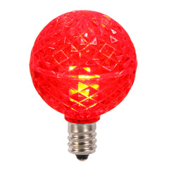 25PK - Vickerman Red Faceted G40 LED Replacement Bulb