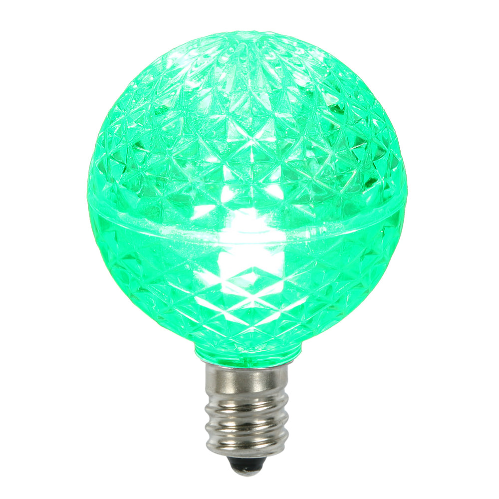 25PK - Vickerman Green Faceted G40 LED Replacement Bulb