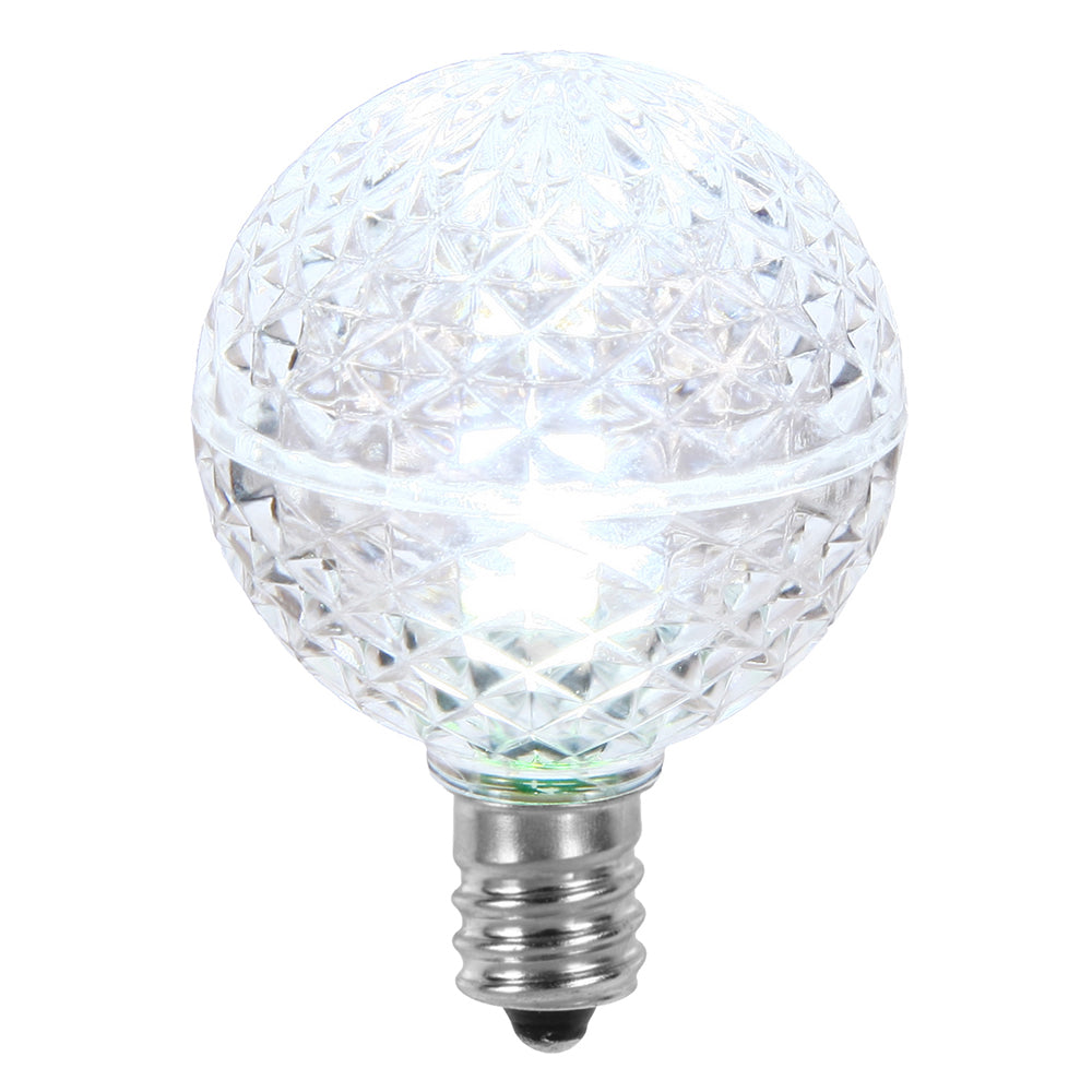 25PK - Vickerman Cool White Faceted G40 LED Replacement Bulb