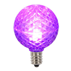 25PK - Vickerman Purple Faceted G40 LED Replacement Bulb