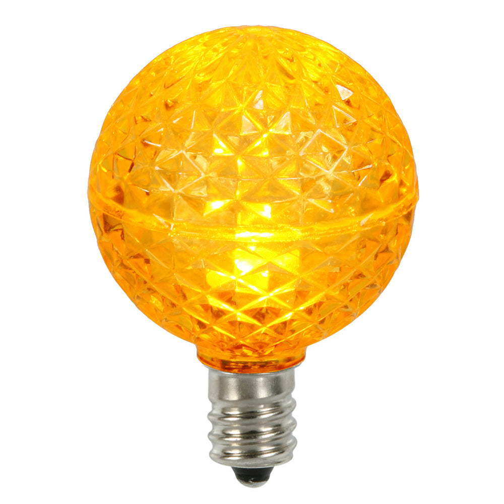 25PK - Vickerman Yellow Faceted G40 LED Replacement Bulb