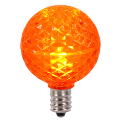 Vickerman G40 Faceted LED Orange Bulb E12 .38W