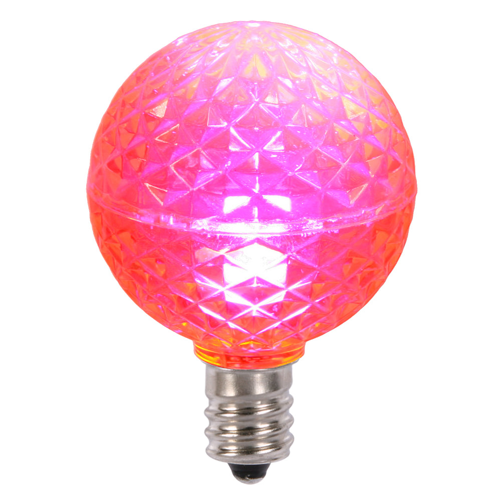 25PK - Vickerman Pink Faceted G40 LED Replacement Bulb