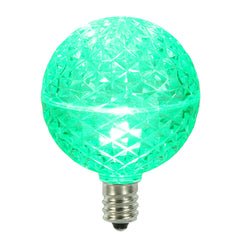Vickerman G50 Faceted LED Green Bulb E12 .38W