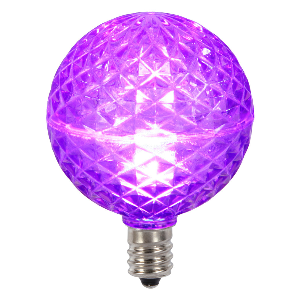 Vickerman G50 Faceted LED Purple Bulb E12 .38W